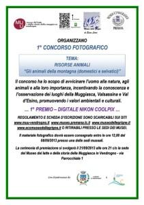 locandina del concorso fotografico museo etnografico di Premana