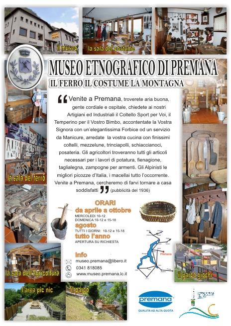 manifesto museo entografico di premana