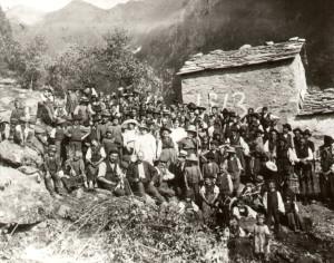 1913 festa a premana - museo etnografico di premana